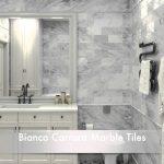 Astonishing Bathroom Tile Ideas Of White Carrara Marble Tiles And Calacatta Gold