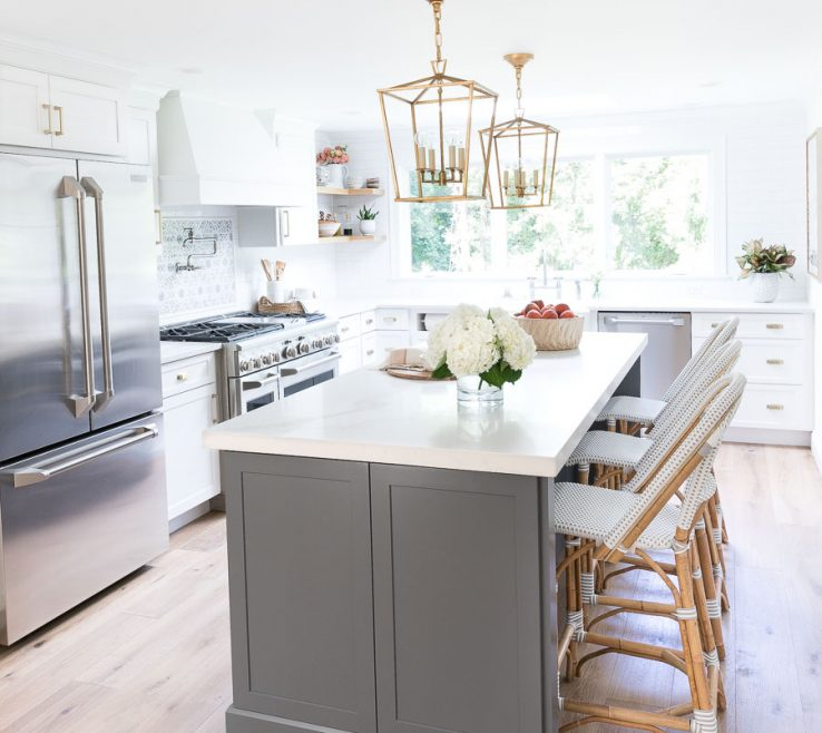 Astounding Kitchen Designs With White S Of Love This Newly Remodeled Gray