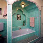 Attractive Art In Bathroom Of A Modern Bath Exhibited At The Metropolitan