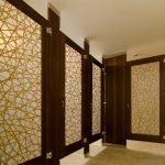Attractive Bathroom Partition Walls Of Ironwood Manufacturing Elegant Wood Veneer Toilet