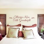 Attractive Bedroom Wall Decor Of Quote Paint Bed Room Idea