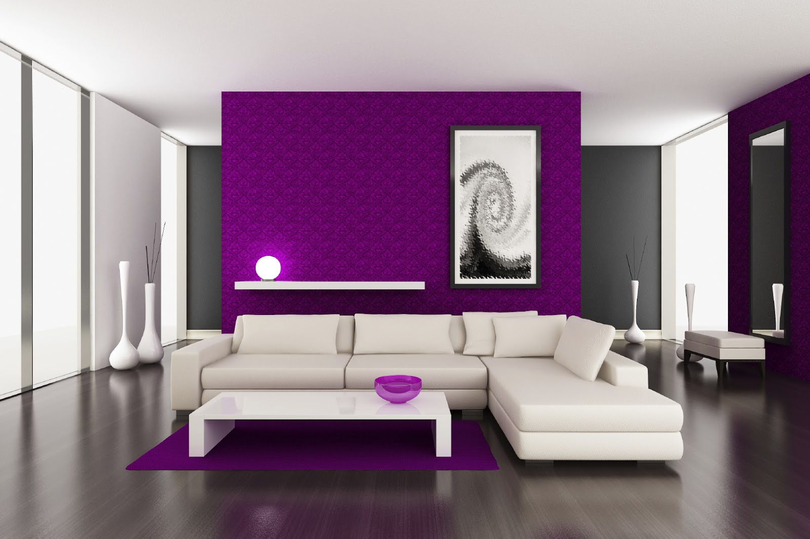 Attractive Purple Wall Decor For Bedrooms Of Modern Home Painting Ideas Homes Alternative Colors Acnn