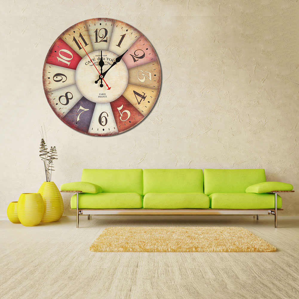 Awesome Living Room Wall Clocks Of Cm Mute Circle Mute Digital Clock Vintage