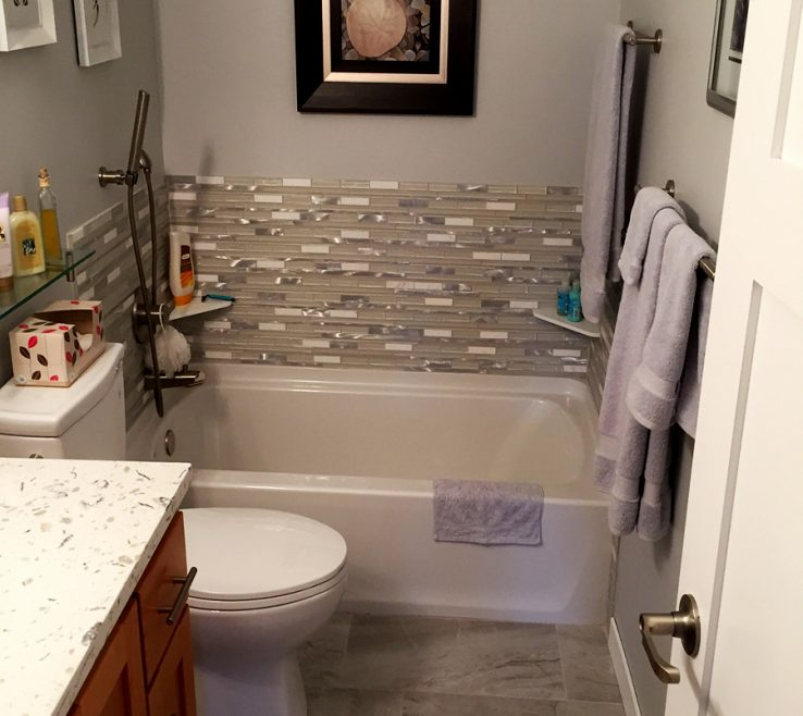 Bathroom Remodel Photo Gallery Of Half Bath Remodeled With Tiling