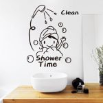 Bathroom Wall Art Decor Of Shower Time Stickers Lovely Child Removable Vinyl