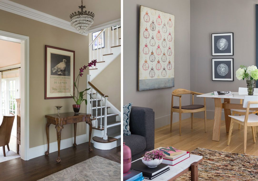 Beautiful Beige Living Room Walls Of Two Rooms Painted