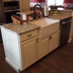 Beautiful Kitchen Island With Sink Of Farm And Dishwasher And Elevated Breakfast Bar