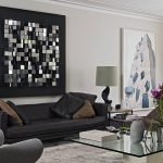 Beautiful Wall Art For Living Room Of Lovely Decor Above Black Sofa Glass