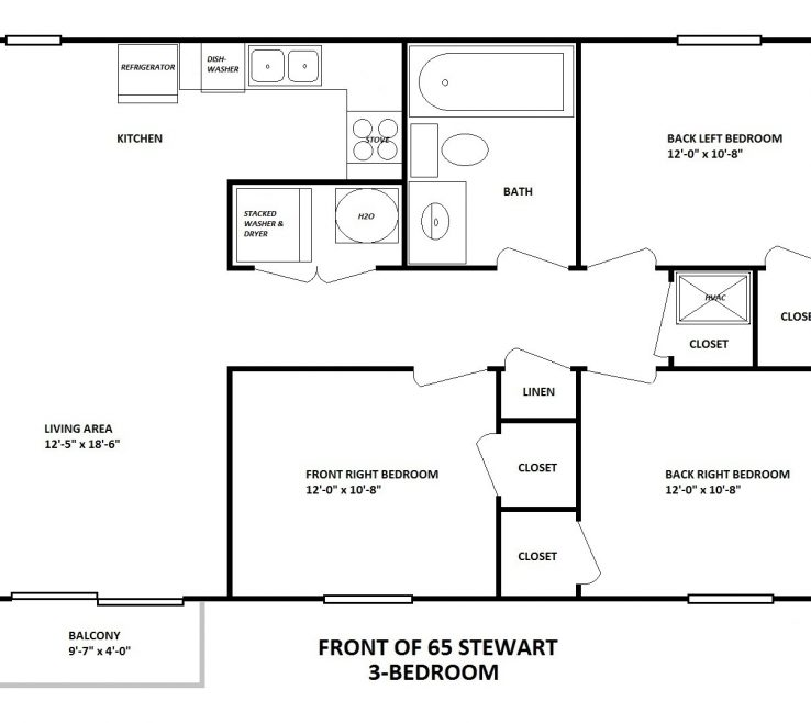 Bedroom Layout Of Stewart