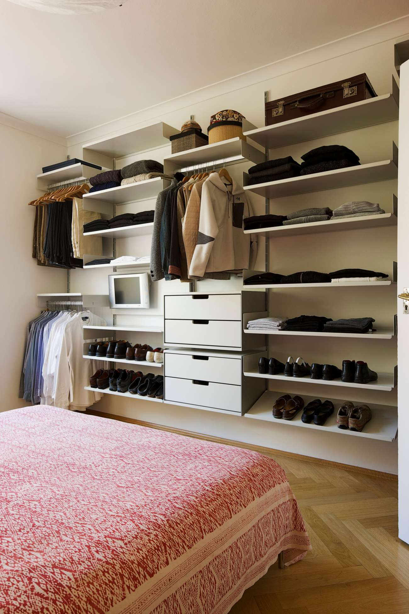 Bedroom Shelving Ideas On The Wall Of Cool Storage Systems Pictures Decoration