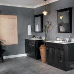 Black Bathroom Walls Of Cool Interior Design With Traditional Vanity