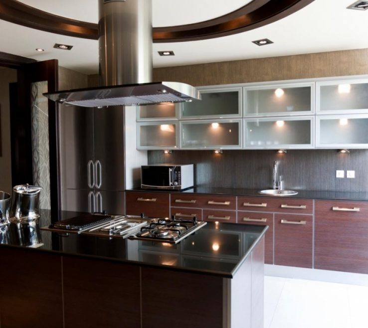 Black Granite Kitchen Of Design With Modern Dark Dark S