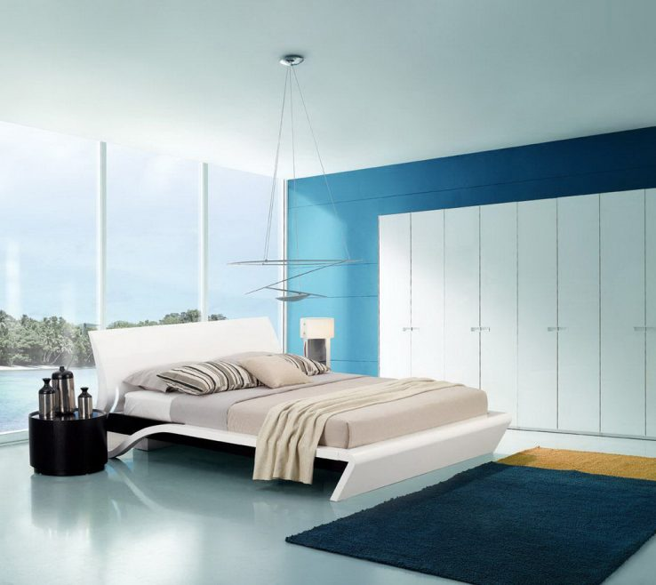 Blue And White Bedroom Of Casual Image Of Modern Ing Cool