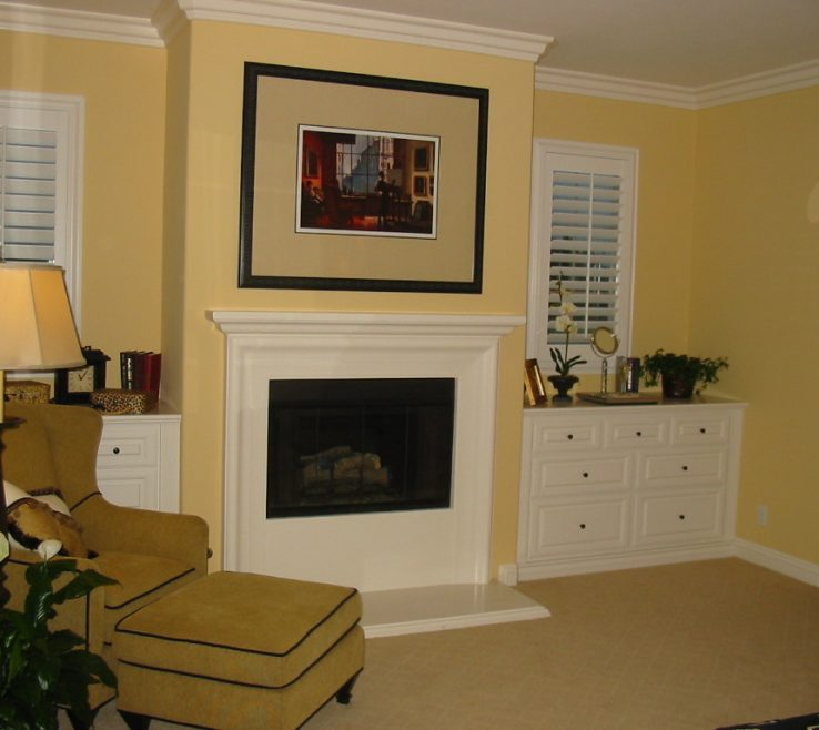 Brilliant Master Bedroom With Fireplace Of Yellow Modern Pleasant Hearth Carlisle Style
