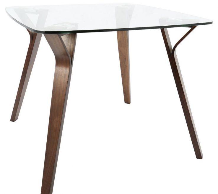 Brilliant Mid Century Dining Room Of Lumisource Folia Mid Century Modern Walnut Square Table