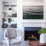 Captivating Large Pictures For Living Room Wall Of Corner Of With Bookshelf