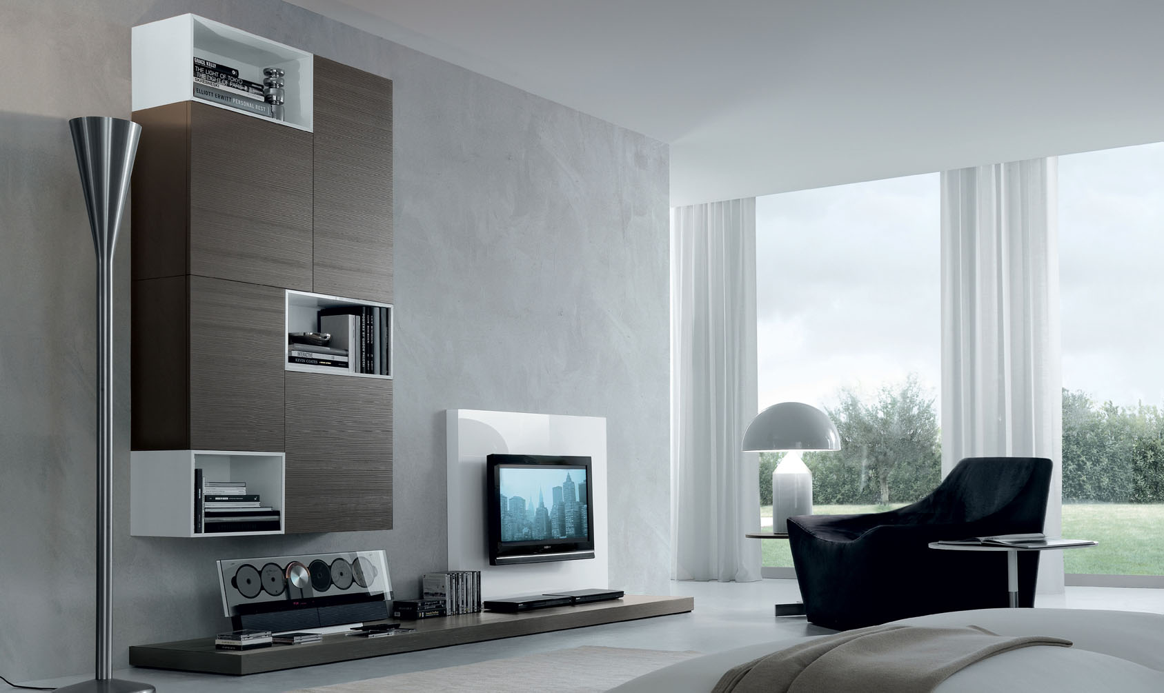 Cool Modern Wall Units For Living Room