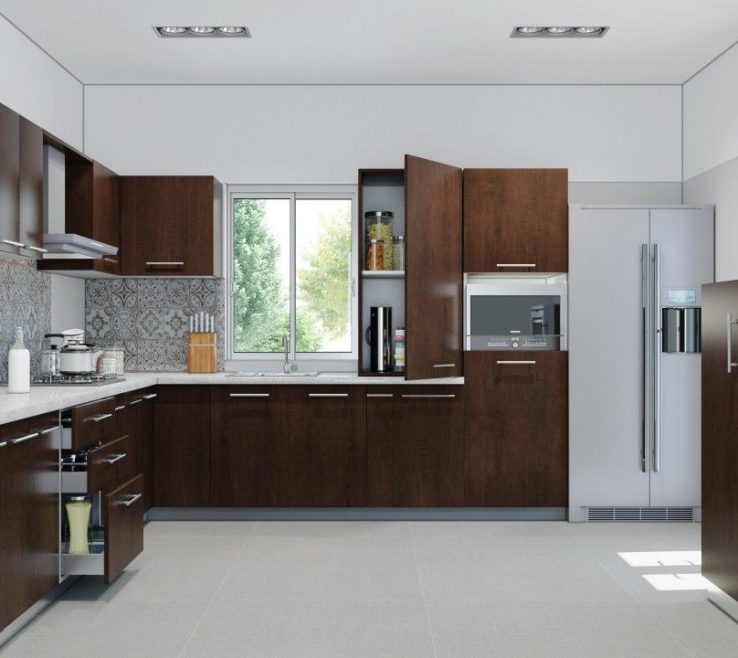 Cool Small Kitchen Design Ideas Of Modular For In Gallery Awesome L Shaped