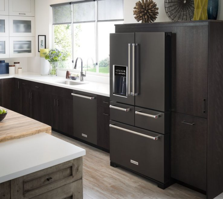 Cool Stainless Steel Kitchen Of Aid Black Superbliances
