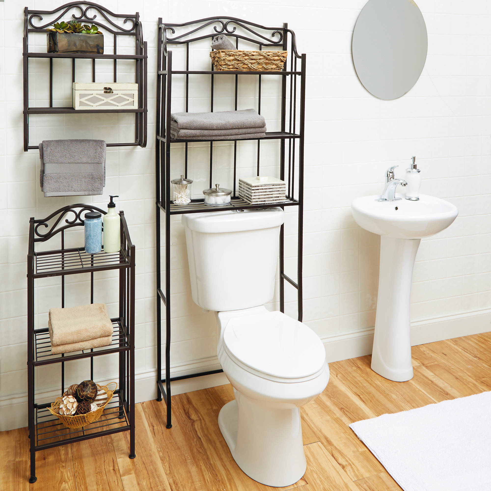 Cool Wall Mounted Bathroom Storage Of Chapter Shelf Oil Rubbed Bronze Finish Walmartreview