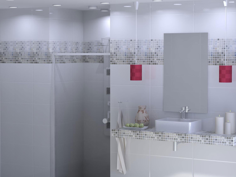 Elegant Grey Bathroom Wall Tiles Of Shiny White Ceramic Tile X