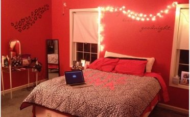 Elegant Red Bedroom Walls Of Amazing Cheetah Print And Video And Photos