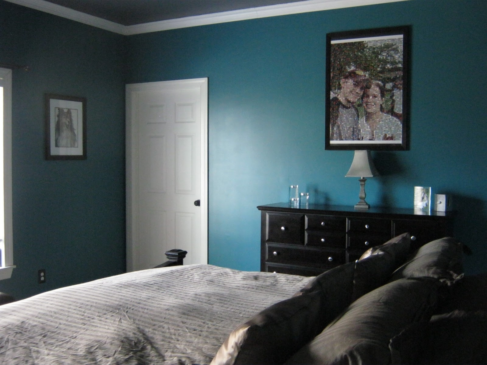 Elegant Teal Bedroom Walls Of Dark Ideas Of With Perfect And Grey Acnn Decor