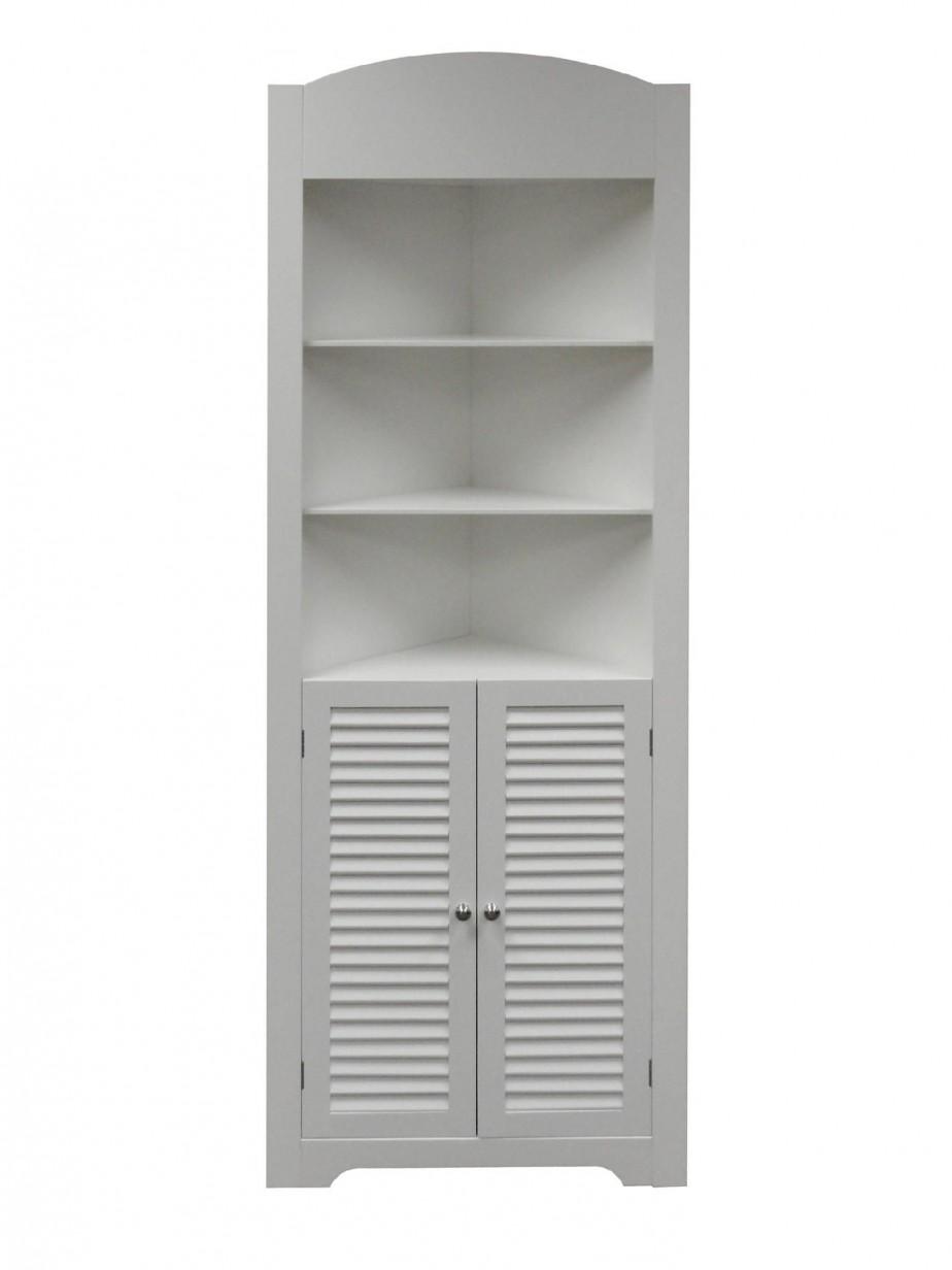 Enchanting Bathroom Corner Wall Shelf Of Excellent Interior Interesting White Wood Two Door