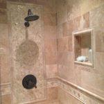 Enchanting Bathroom Wall Tile Installation Of Supreme Shower Design Beige Brick Stone Square
