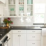 Enchanting Kitchens With Black S Of White Kitchen S And White Subway Tile