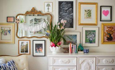 Enchanting Living Room Gallery Wall Of Long Dining