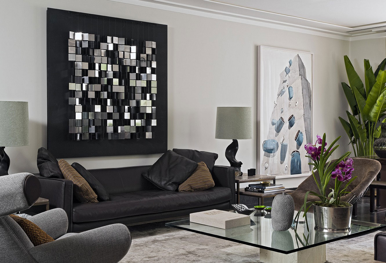Enchanting Living Room Wall Art Of Lovely Decor Above Black Sofa Glass