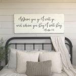 Enchanting Master Bedroom Wall Decor Ideas Of Where You Go I Will Go