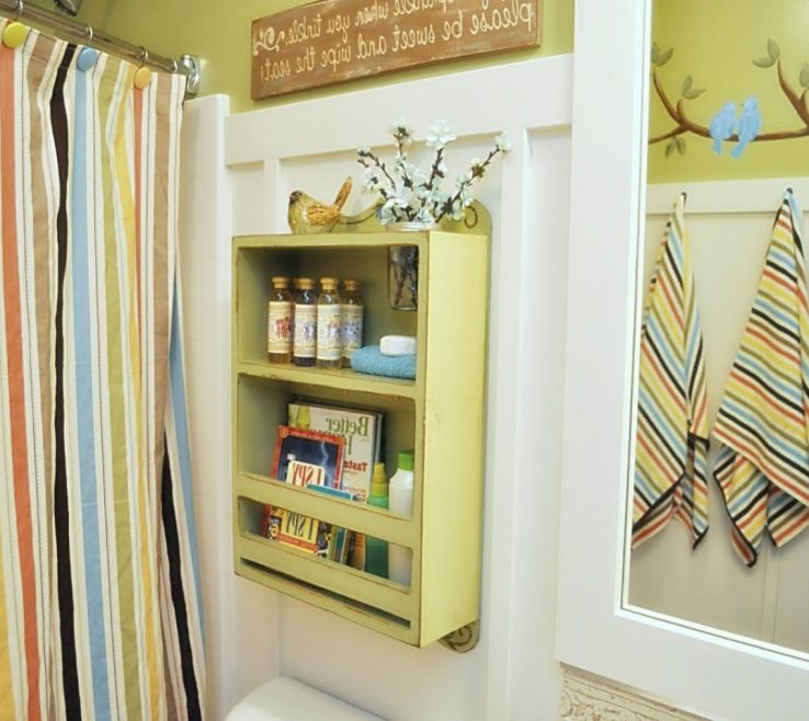 Enchanting Very Small Bathroom Storage Ideas Of SizeRecessed Shower Caddy Tile