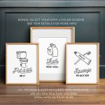 Endearing Bathroom Wall Art Decor Of Install The Best To Enhance The Decors