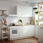 Endearing Ikea Kitchens Of A Small White Kitchen Consisting Of A