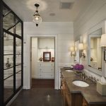 Enthralling Bathroom Wall Sconces Of Modern Design With Metal Triple Downlight Superblied