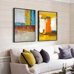 Enthralling Large Pictures For Living Room Wall Of Muya Abstract Painting Canvas Art Tableau Decoration