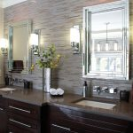 Entrancing Bathroom Wall Sconces Of Gallery Modern On A Budget