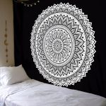 Entrancing Bedroom Wall Tapestry Of Odd Home Decor Mandala Floral Art Hanging