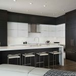 Entrancing Contemporary Kitchen Of Black And White