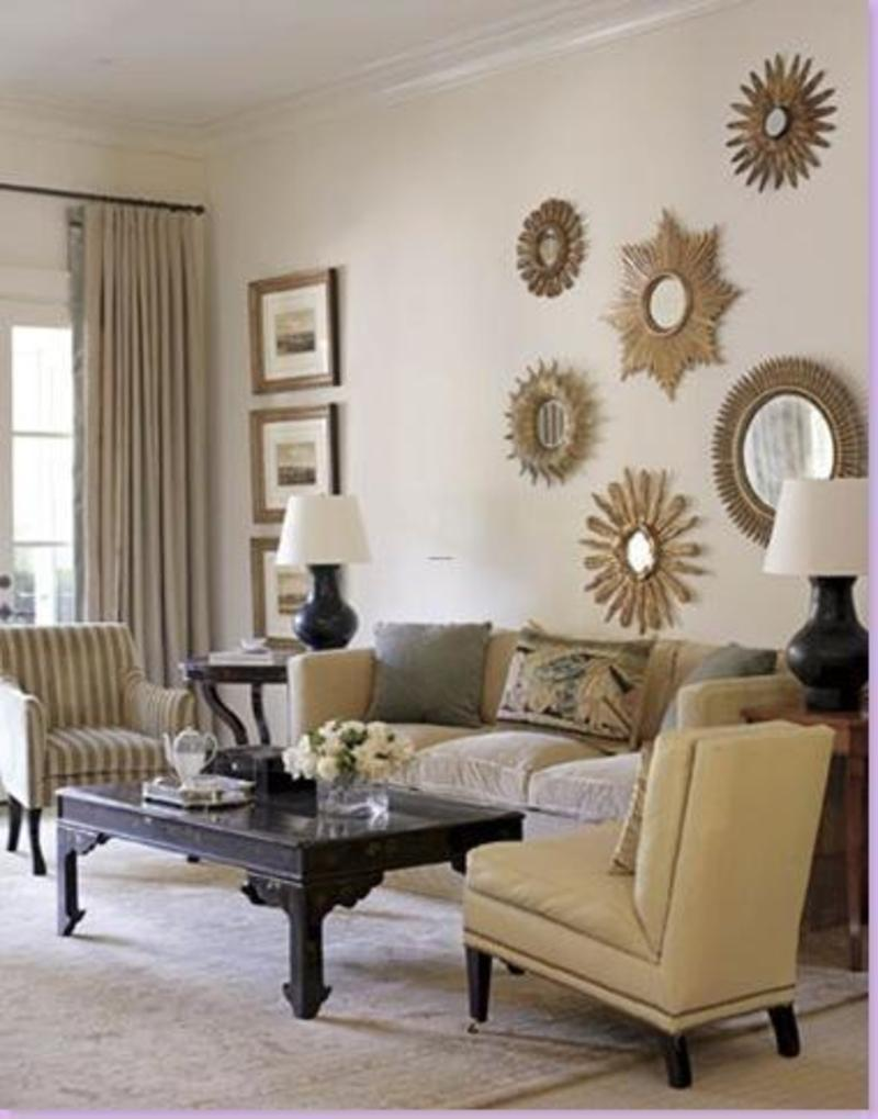 Entrancing Living Room Wall Decor Ideas Of Image Of Large Mirror Acnn Decor
