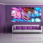 Entrancing Purple Wall Decor For Bedrooms Of Dark Living Room Ideas