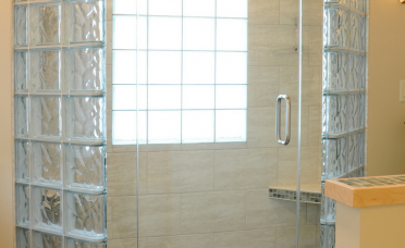 Exquisite Bathroom Glass Wall Of A Block Tall Block Not Anchored