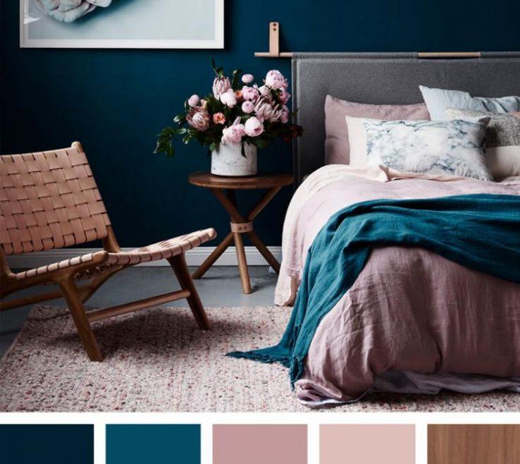 Exquisite Bedroom Color Palette Of Schemes Pink