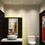 Exquisite Black Bathroom Walls Of Modern And White Wall Decors