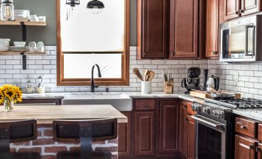 Extraordinary Kitchen Renovation Of With White Subway Tile Black Stainless Exposed