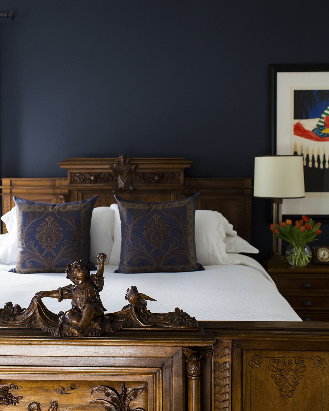 Extraordinary Navy Blue Bedroom Walls
