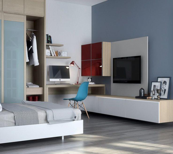 Fascinating Bedroom Office Of Modern