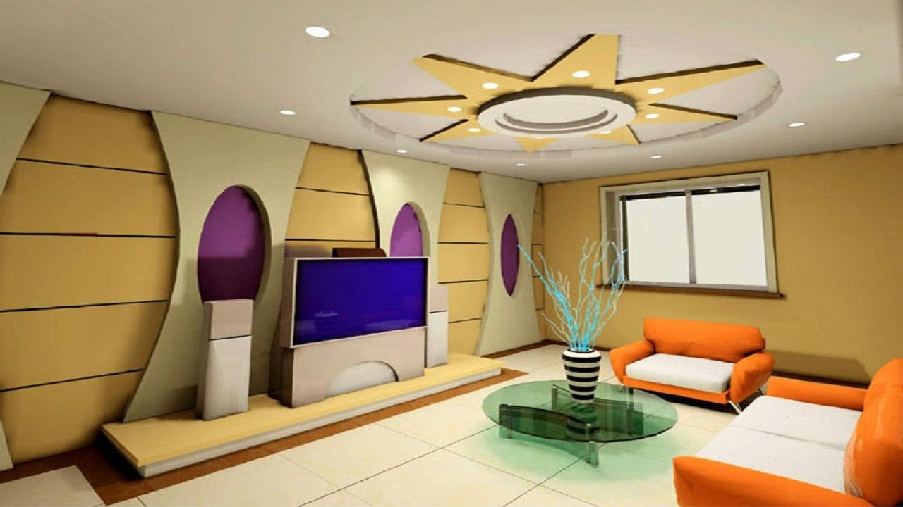 Fascinating Living Room Tv Wall Of New Designs Simple False Ceiling